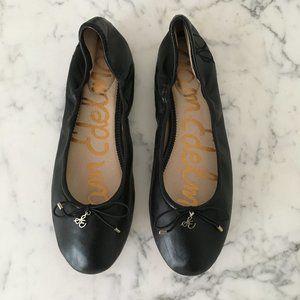 Sam Edelman Felicia Black Ballet Flat 8.5 9 MINT